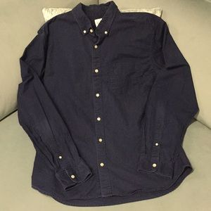 GAP CLASSIC BUTTON DOWN INDIGO BLUE SHIRT